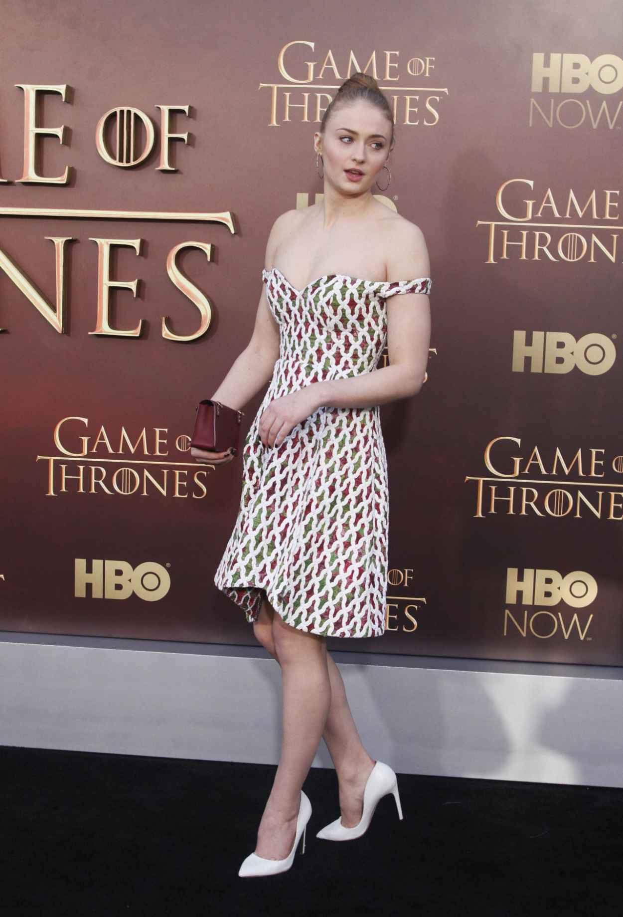 SOPHIE TURNER at Game of Thrones Season 5 Premiere in San