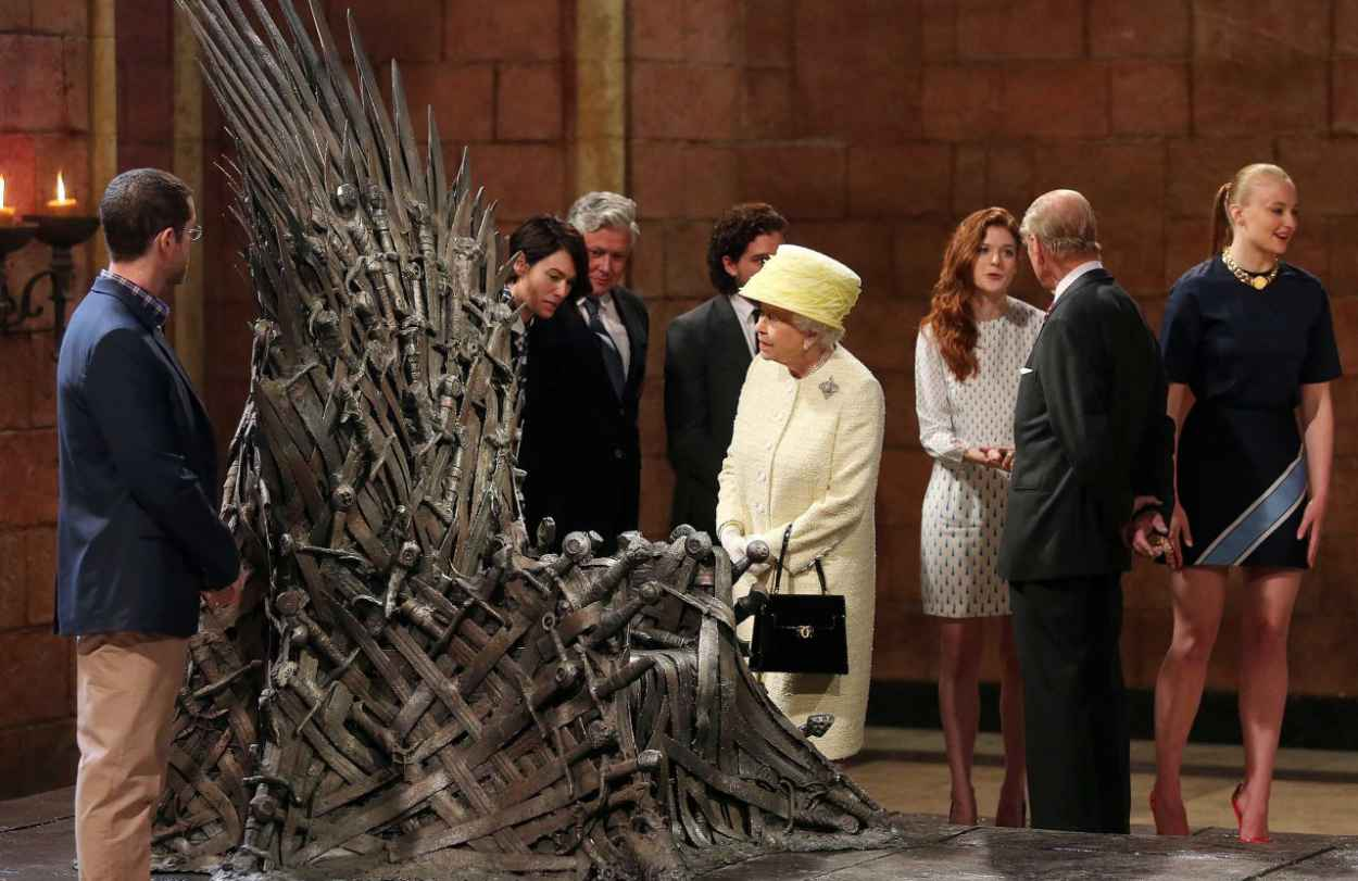 Sophie Turner - Queen Elizabeth II Visits the Game of Thrones Set in Belfast - June 2015-3