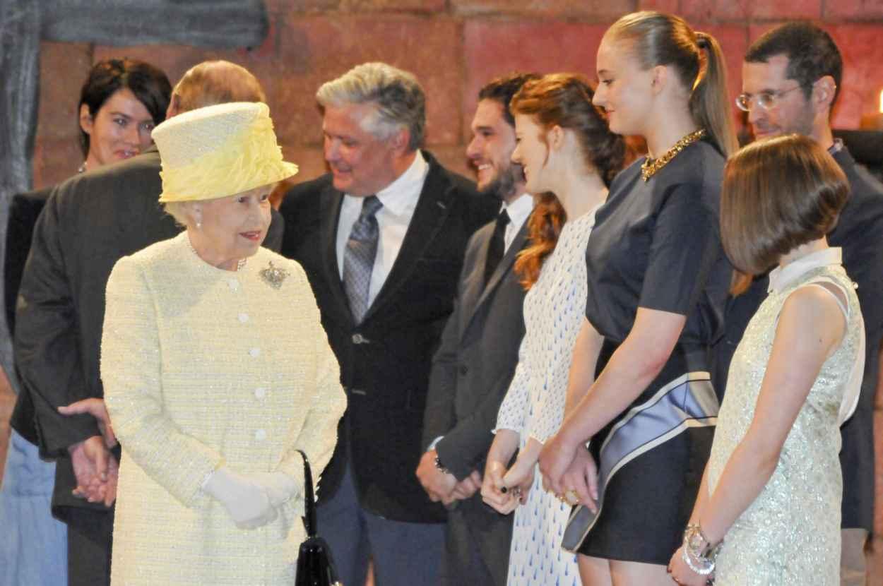 Sophie Turner - Queen Elizabeth II Visits the Game of Thrones Set in Belfast - June 2015-5