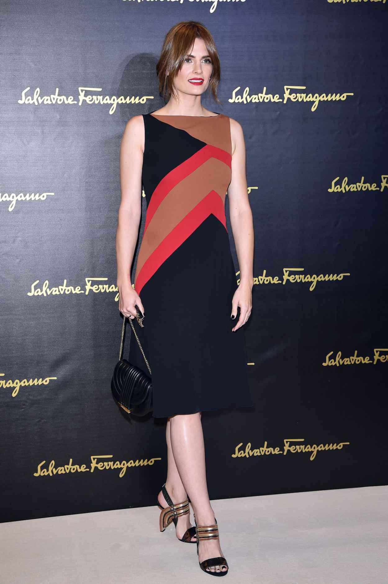 Stana Katic - Salvatore Ferragamo - Milan Fashion Week SS16-2