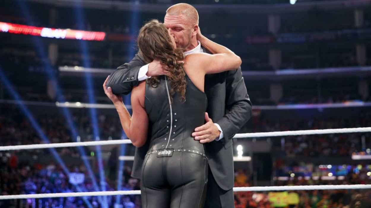 Stephanie McMahon in a Tight Leather Outfit - WWE SummerSlam in Los Angeles - August 2015-2