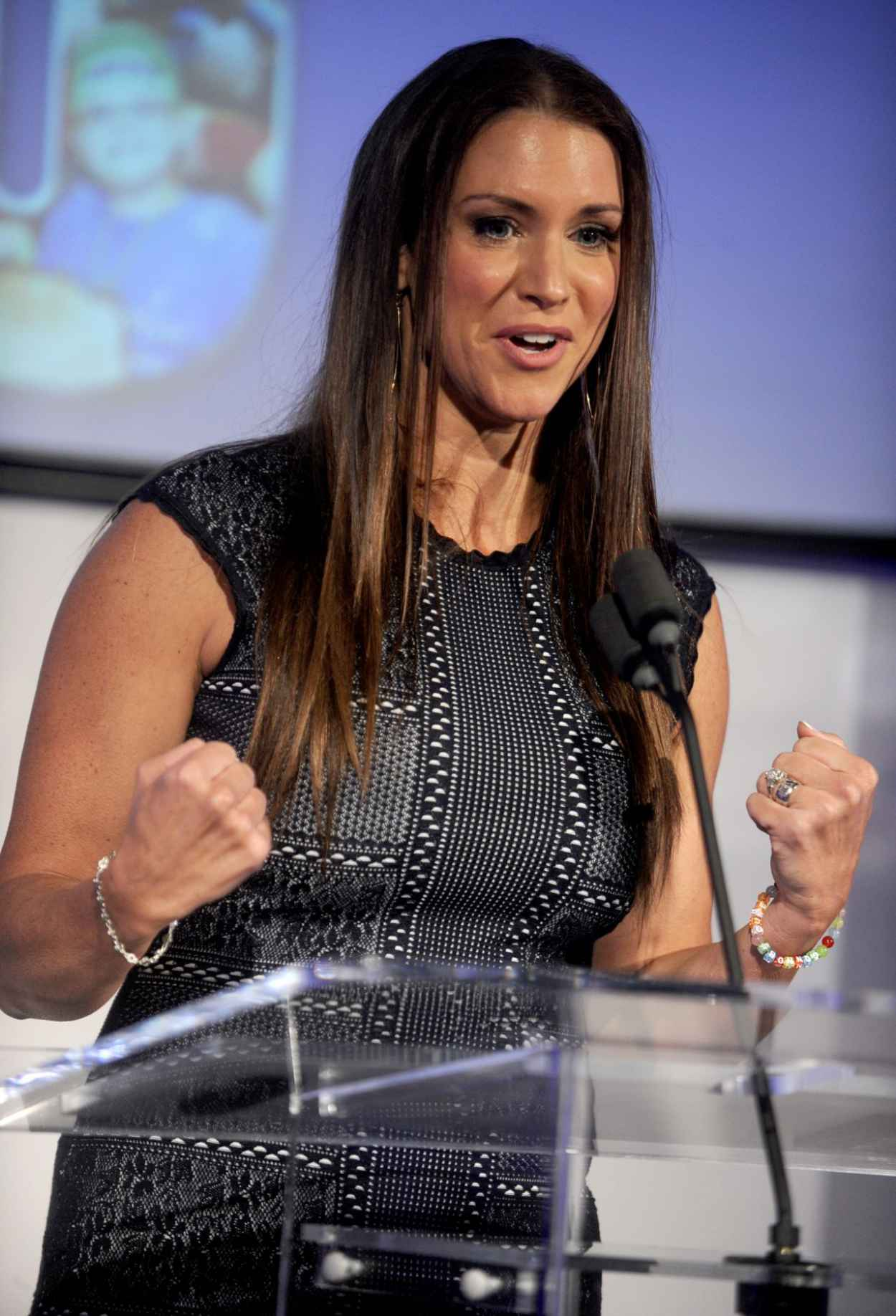 Stephanie McMahon - John Cena & Make-A-Wish Celebration of his 500th Wish Granting Milestone in NYC-2
