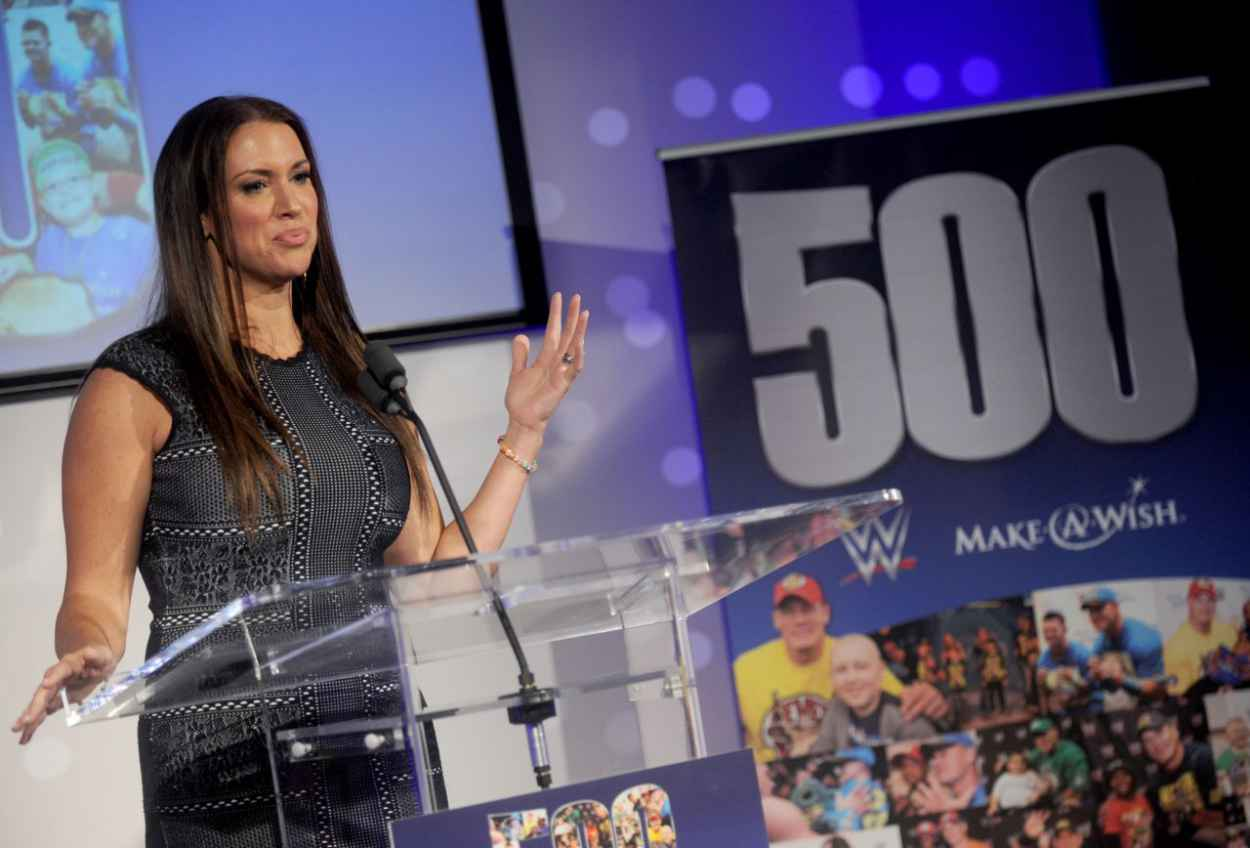 Stephanie McMahon - John Cena & Make-A-Wish Celebration of his 500th Wish Granting Milestone in NYC-3