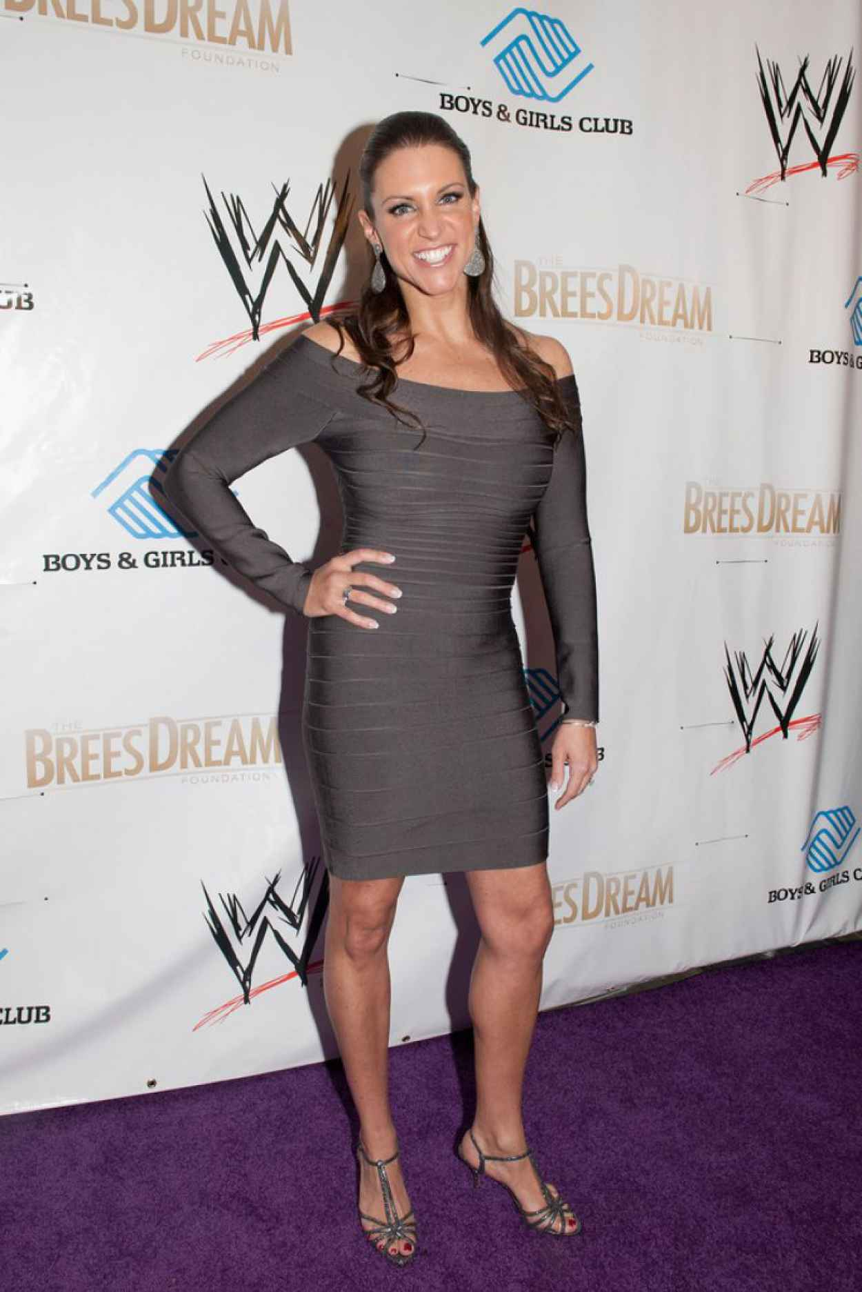 Stephanie McMahon Leggy in a Tight Dress - WWE Superstars for Kids Event - April 2015-1