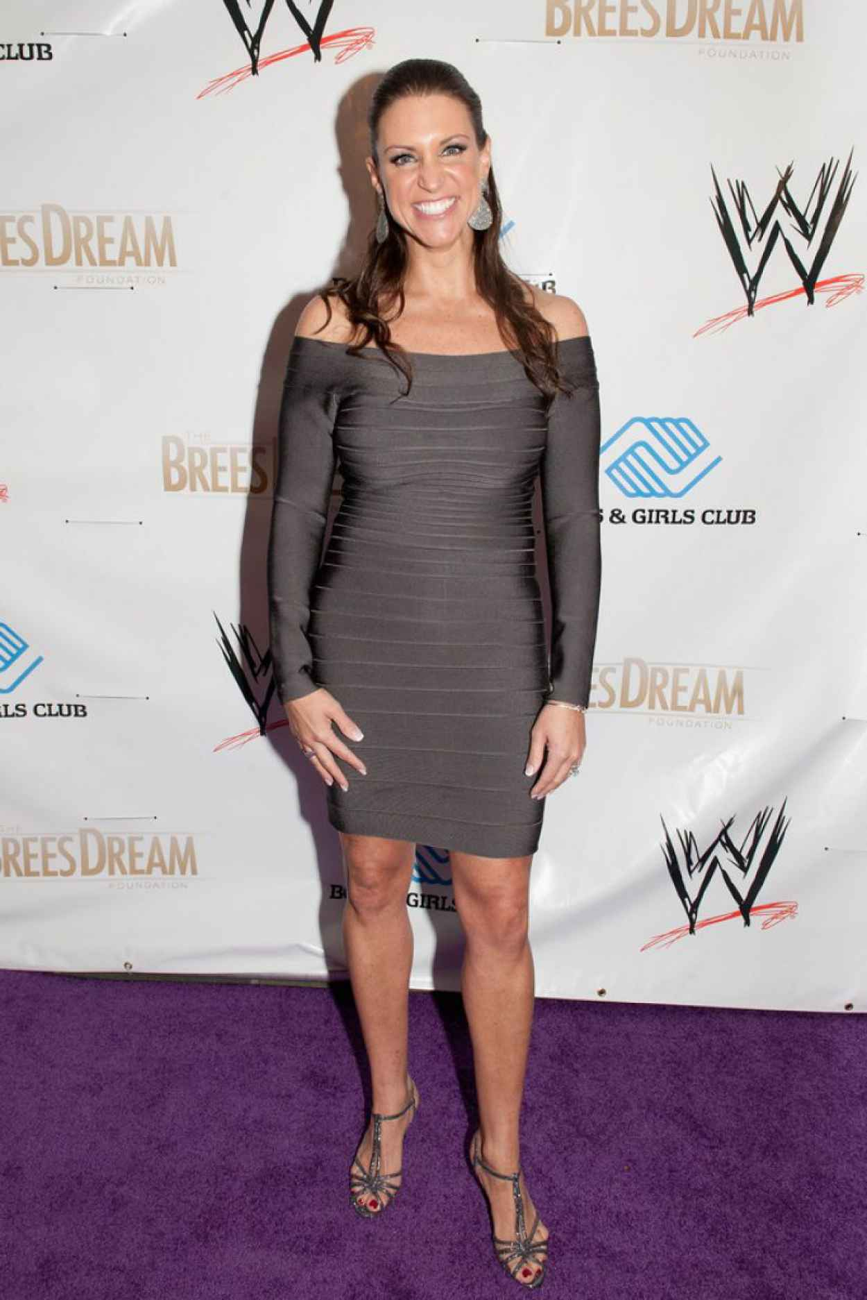 Stephanie McMahon Leggy in a Tight Dress - WWE Superstars for Kids Event - April 2015-3