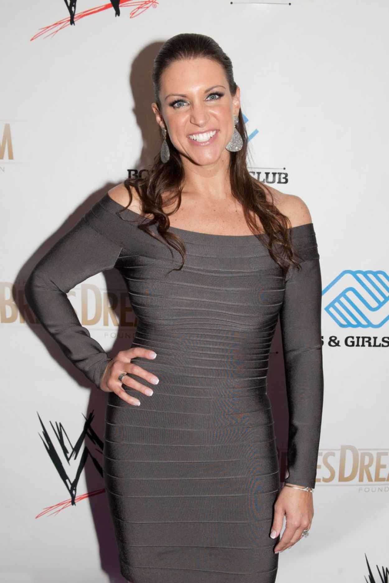 Stephanie McMahon Leggy in a Tight Dress - WWE Superstars for Kids Event - April 2015-4