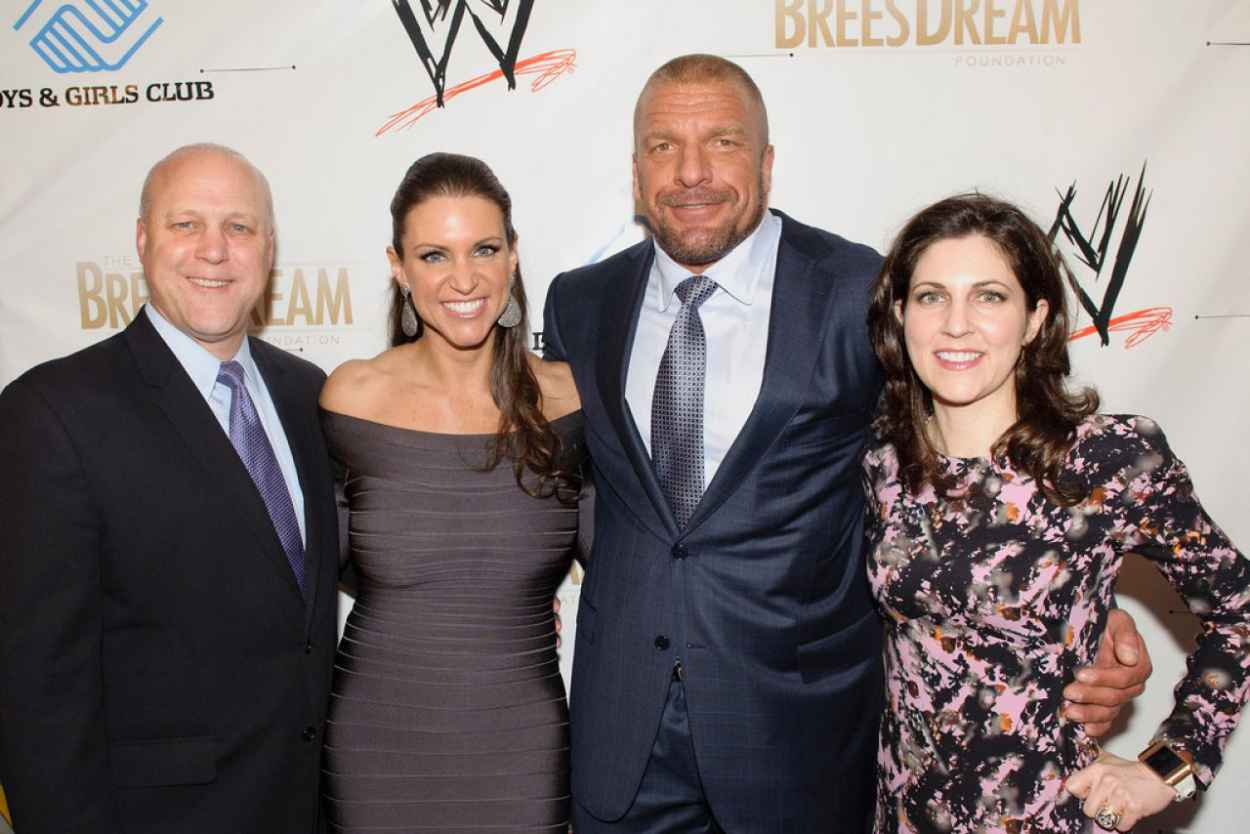 Stephanie McMahon Leggy in a Tight Dress - WWE Superstars for Kids Event - April 2015-5