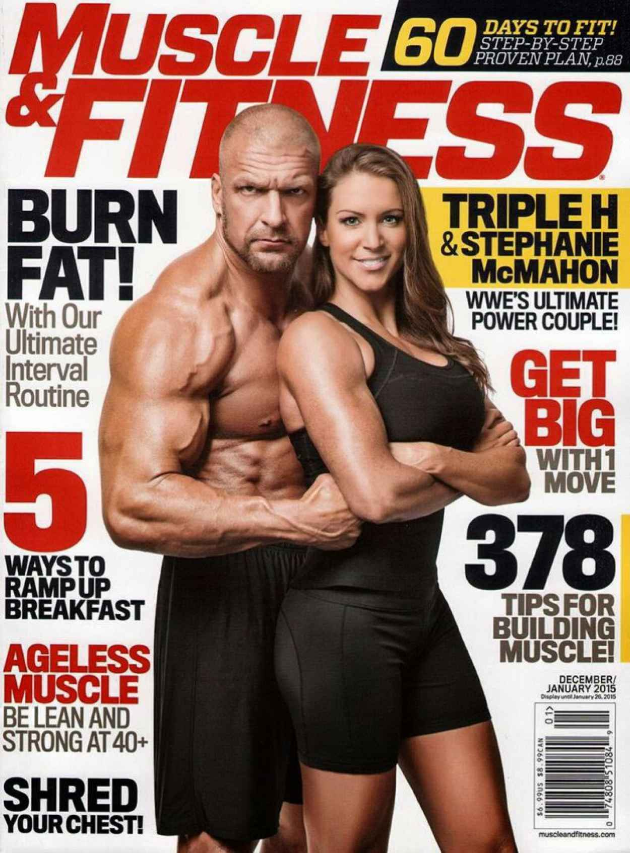 Stephanie McMahon - Muscle & Fitness Magazine - December 2015/January 2015-1