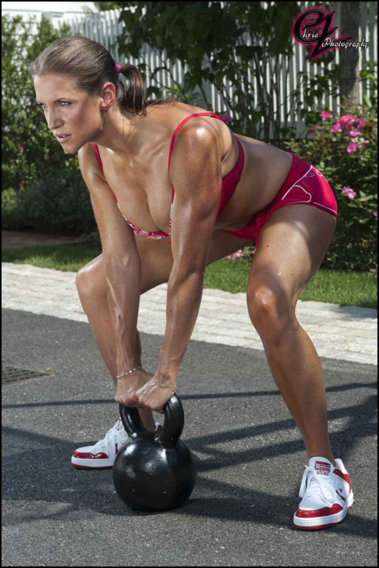 Stephanie McMahon in Bikini Working Out - Chris Zimmerman Photoshoot (2012)-1
