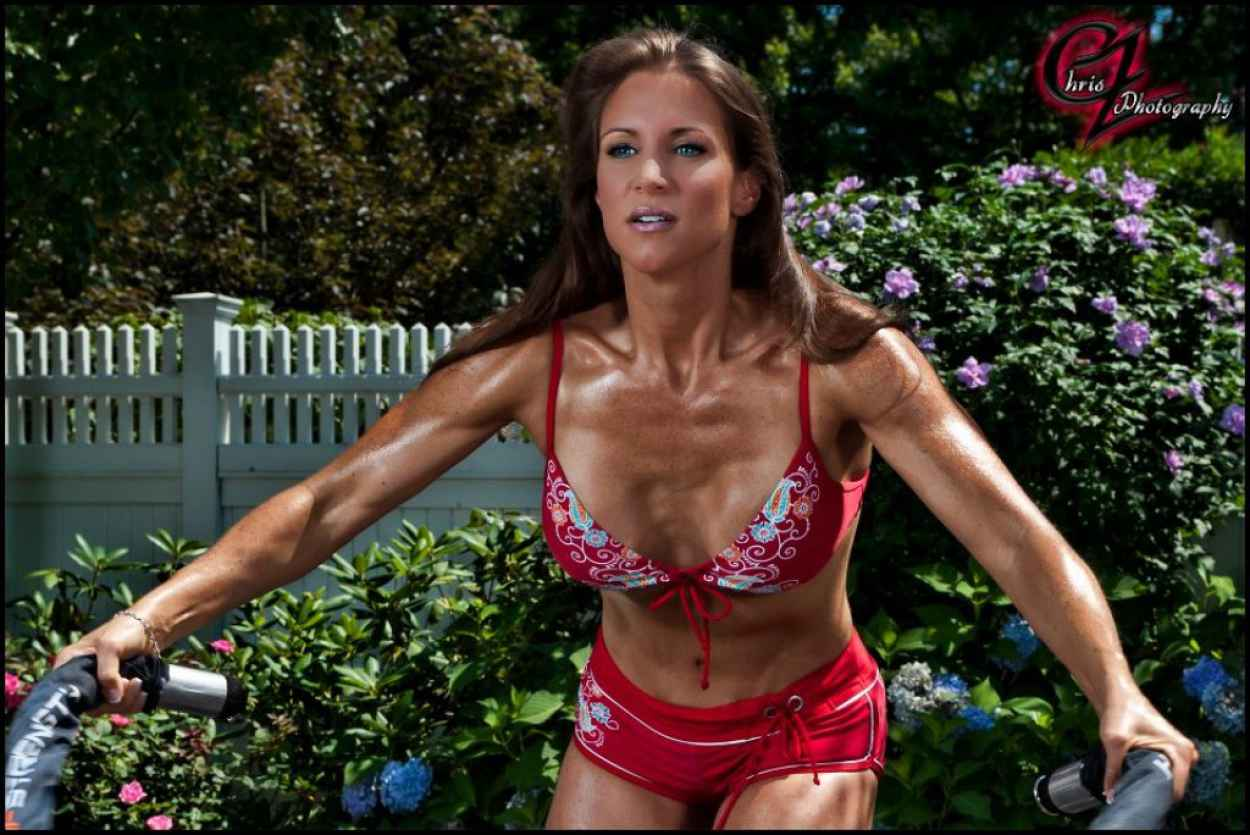 Stephanie McMahon in Bikini Working Out - Chris Zimmerman Photoshoot (2012)-2