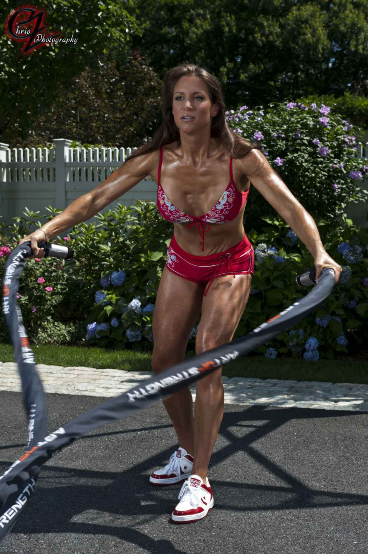 Stephanie McMahon in Bikini Working Out - Chris Zimmerman Photoshoot (2012)-3