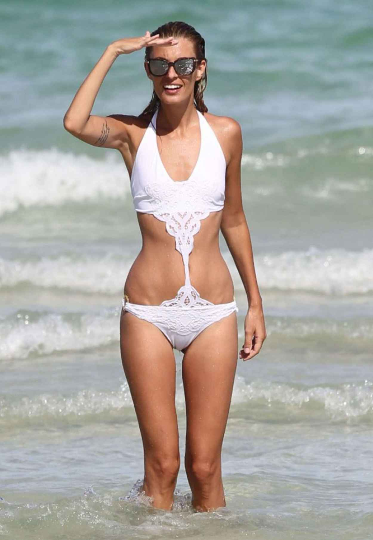 sveva alviti in a bikini on miami beach august 2015