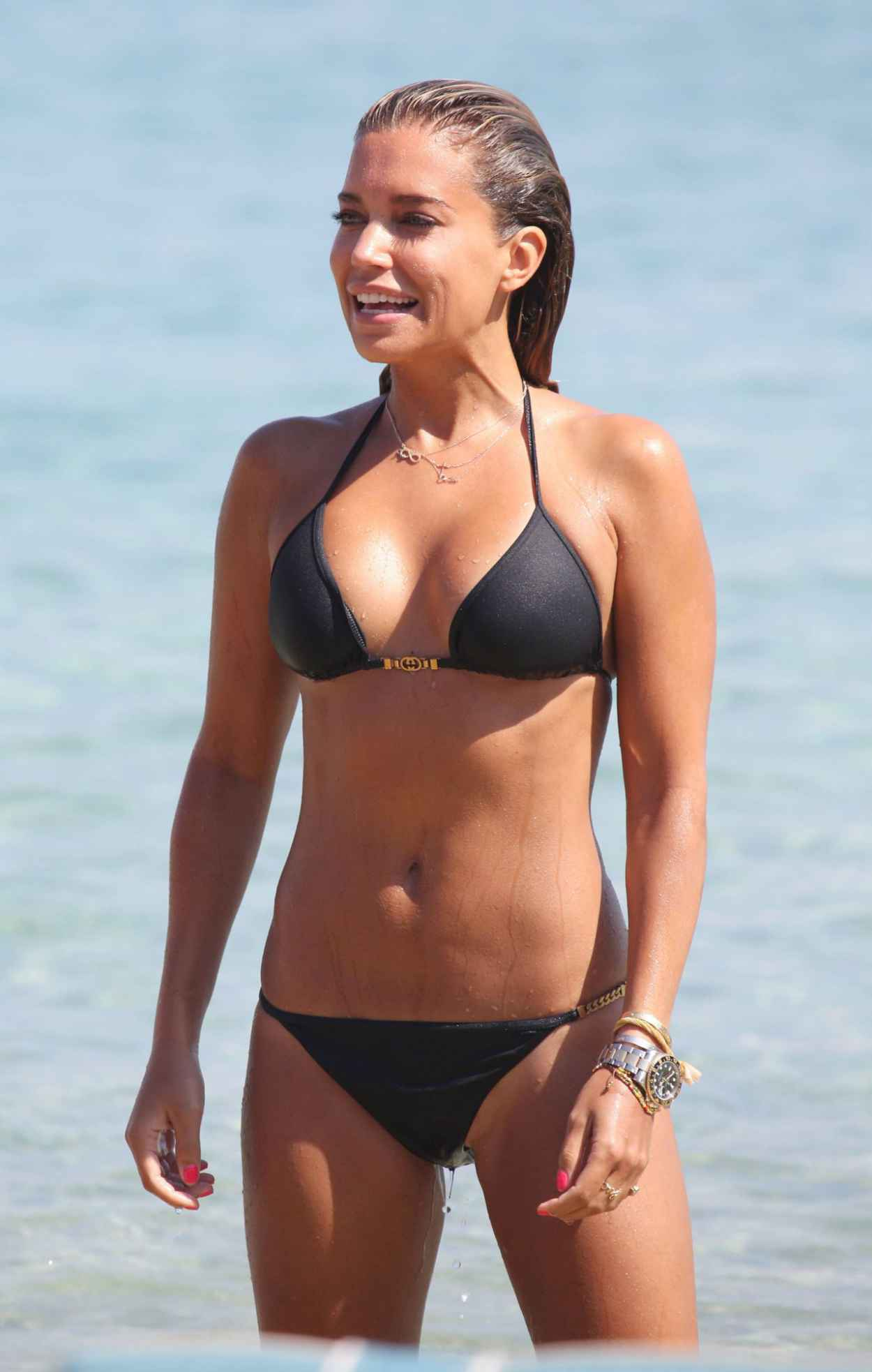 Sylvie Meis in Black Bikini on the beach in Miami Pic 29 of 35