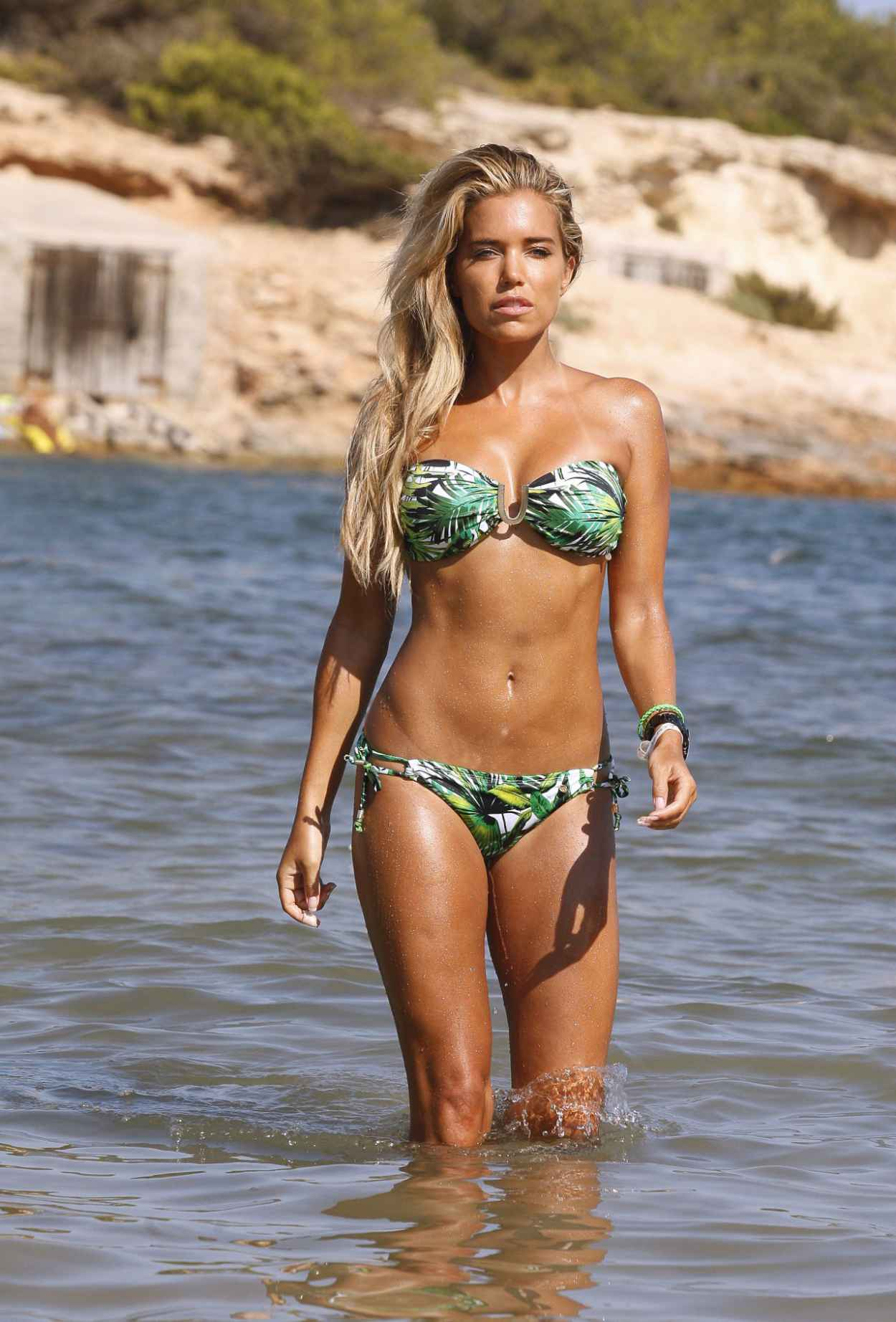 sylvie meis poses in bikini for a shoot in ibiza august. Black Bedroom Furniture Sets. Home Design Ideas