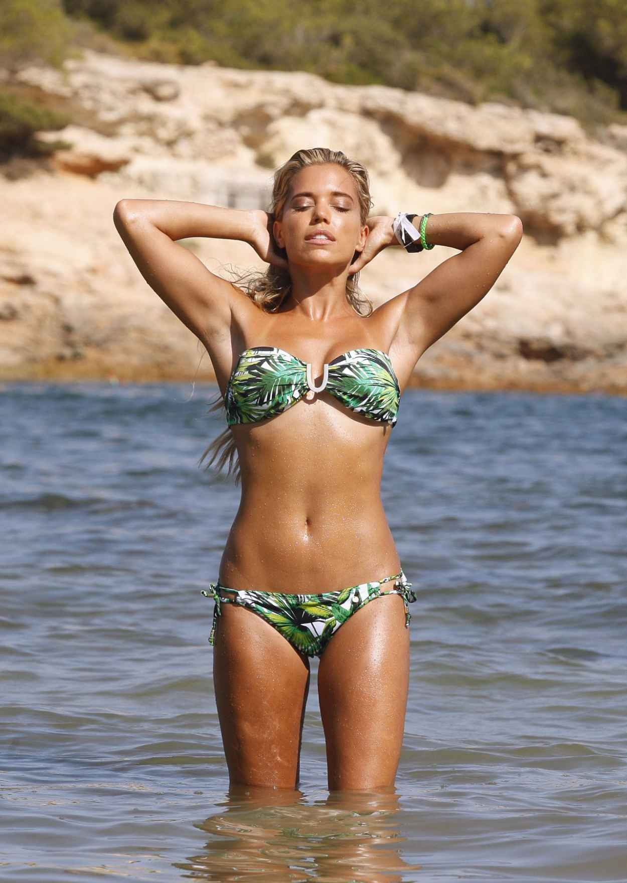 sylvie meis poses in bikini for a shoot in ibiza august 2015. Black Bedroom Furniture Sets. Home Design Ideas
