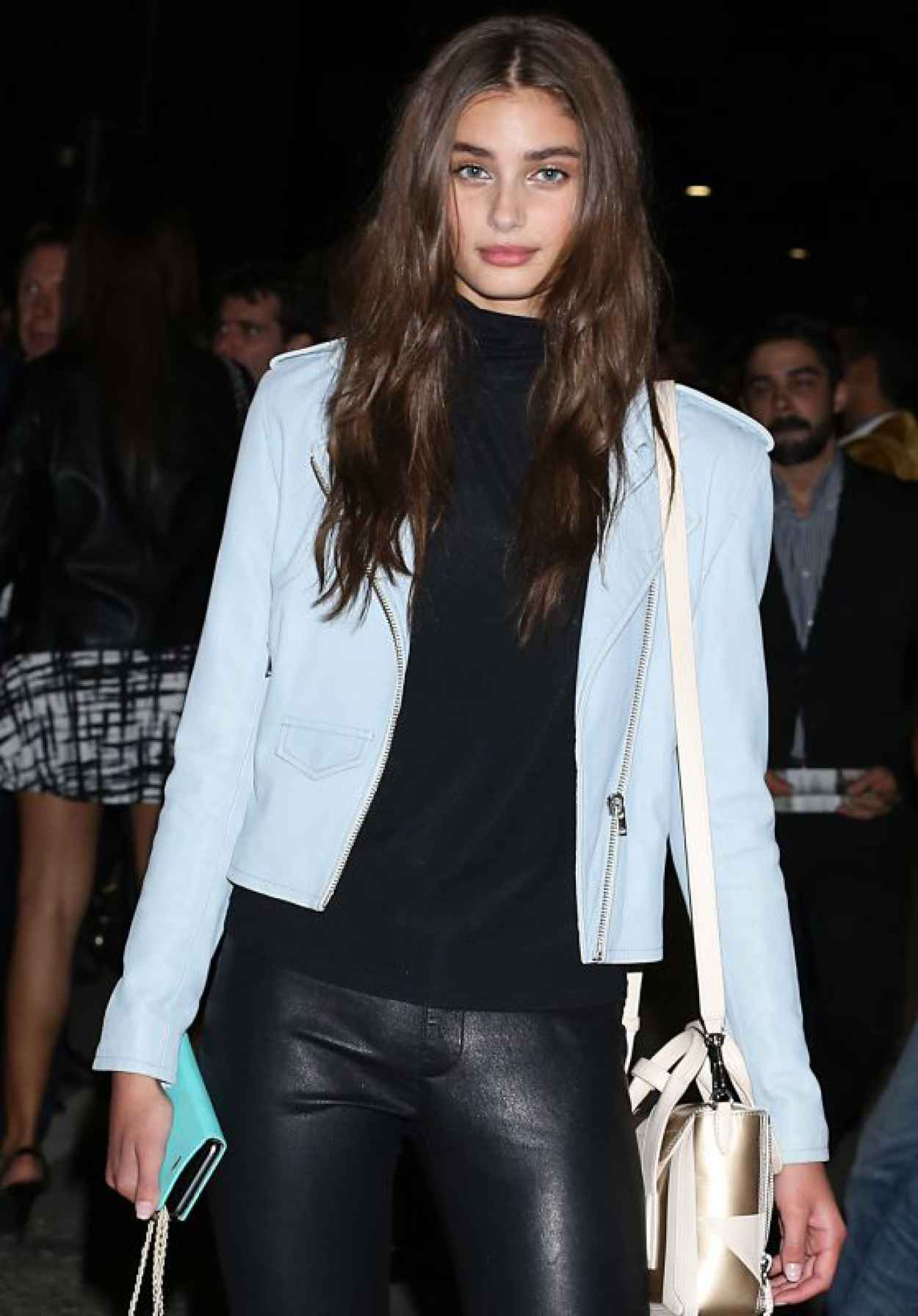 Taylor Hill - Leaving Versace SS2016 Show in Milan, September 2015-1