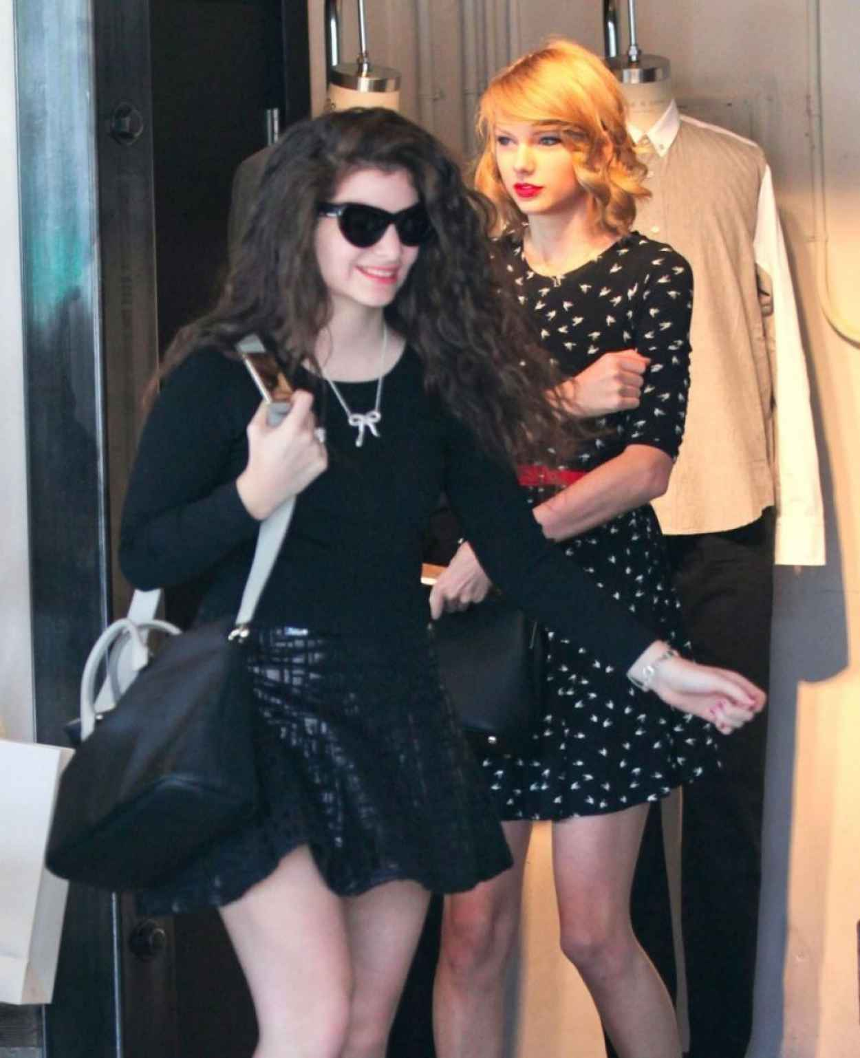 Taylor Swift & Lorde Street Style - Shopping in West Hollywood - February 2015-1