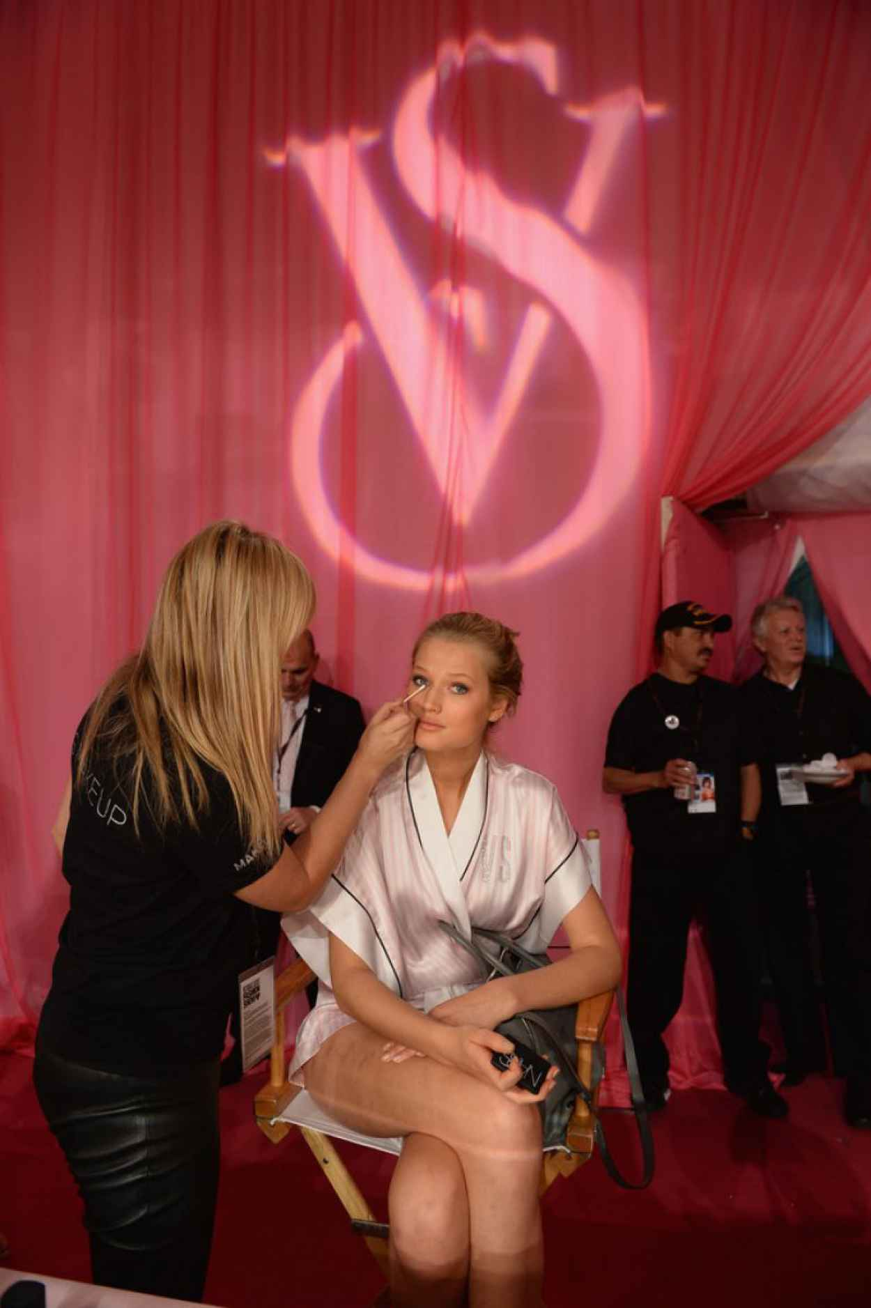 Toni Garrn - Backstage Victoria-s Secret Fashion Show in New York City-1