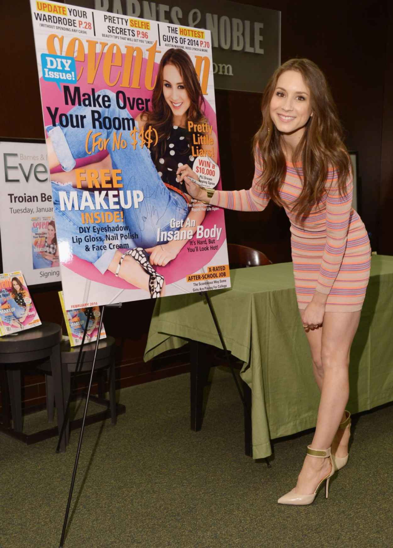 Troian Bellisario - SEVENTEEN Magazine - February Issue Unveiling at Barnes & Noble in New York-1