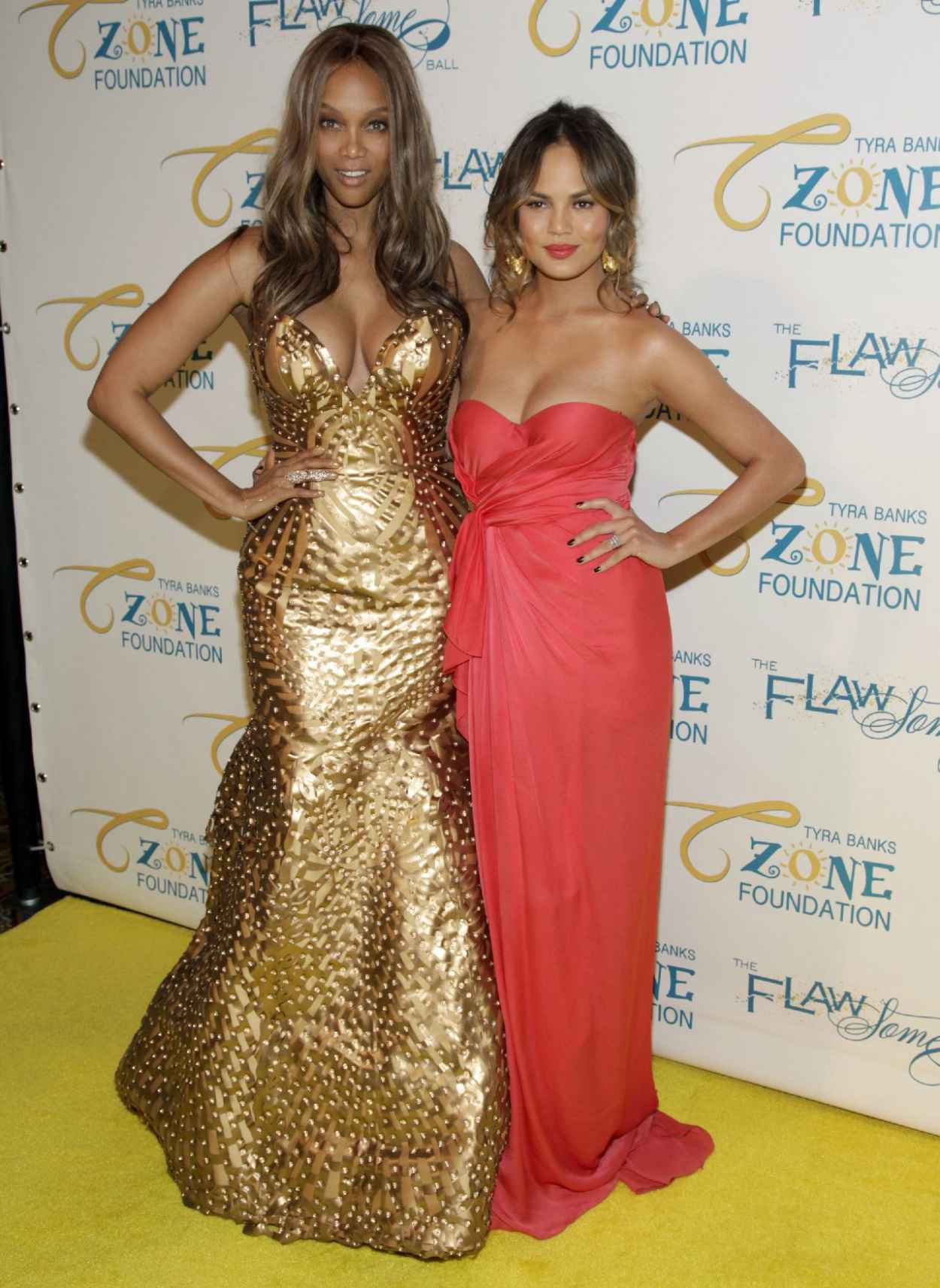 Tyra Banks & Chrissy Teigen - The Flawsome Ball - May 2015-1