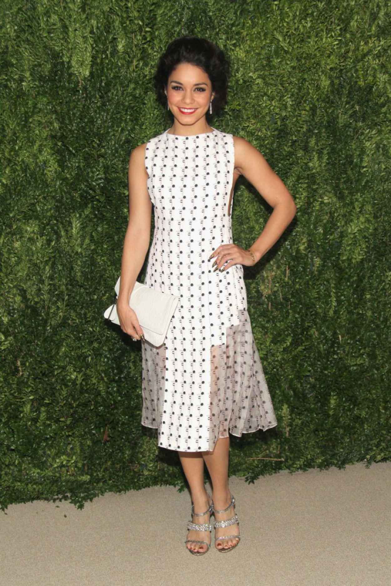 Vanessa Hudgens Attends CFDA & Vogue Fund Reception in New York City-2