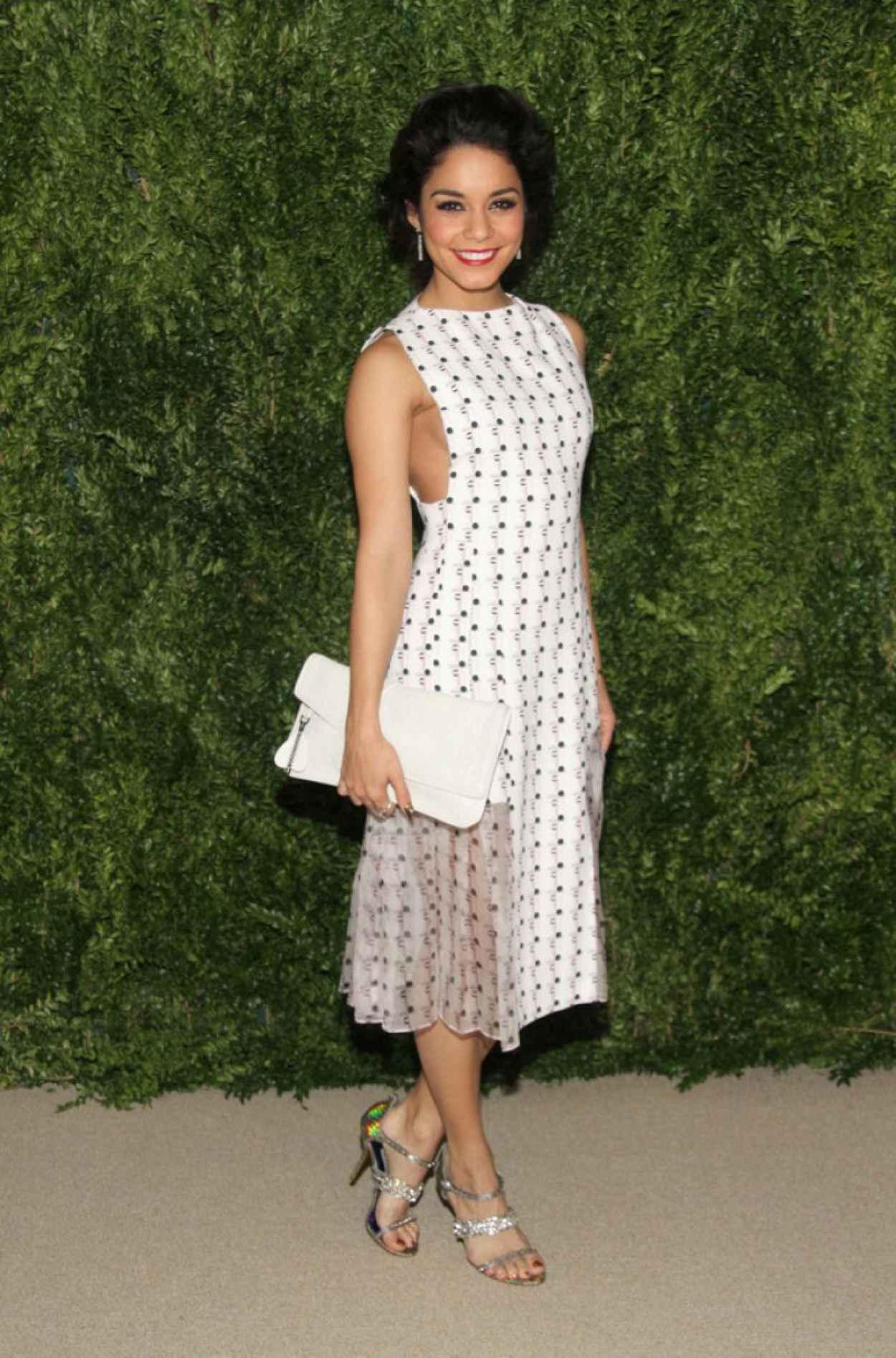 Vanessa Hudgens Attends CFDA & Vogue Fund Reception in New York City-1