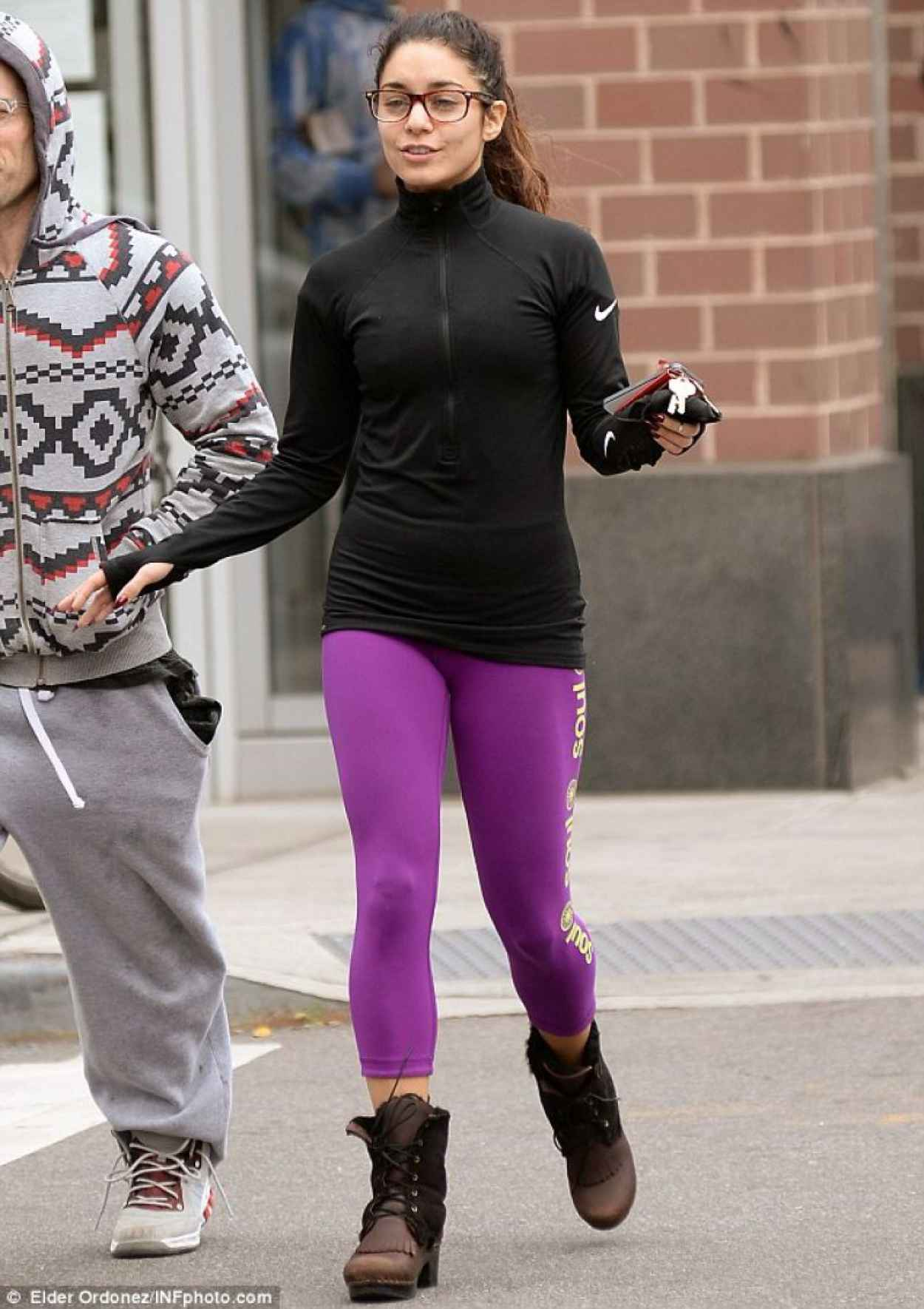 Vanessa Hudgens Street Style - in Tights in New York-2