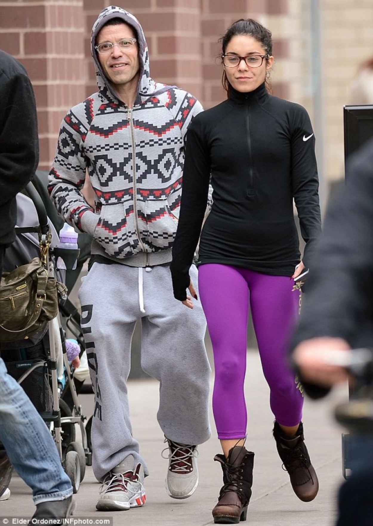 Vanessa Hudgens Street Style - in Tights in New York-3