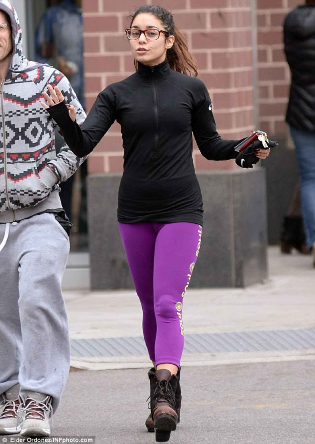 Vanessa Hudgens Street Style - in Tights in New York-1