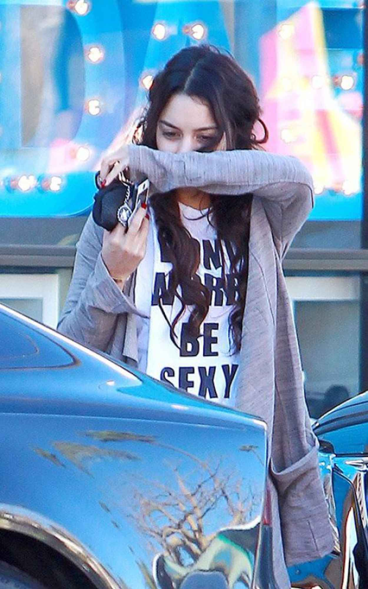 Vanessa Hudgens Street Style - Leaving the Gym, January 2015-1