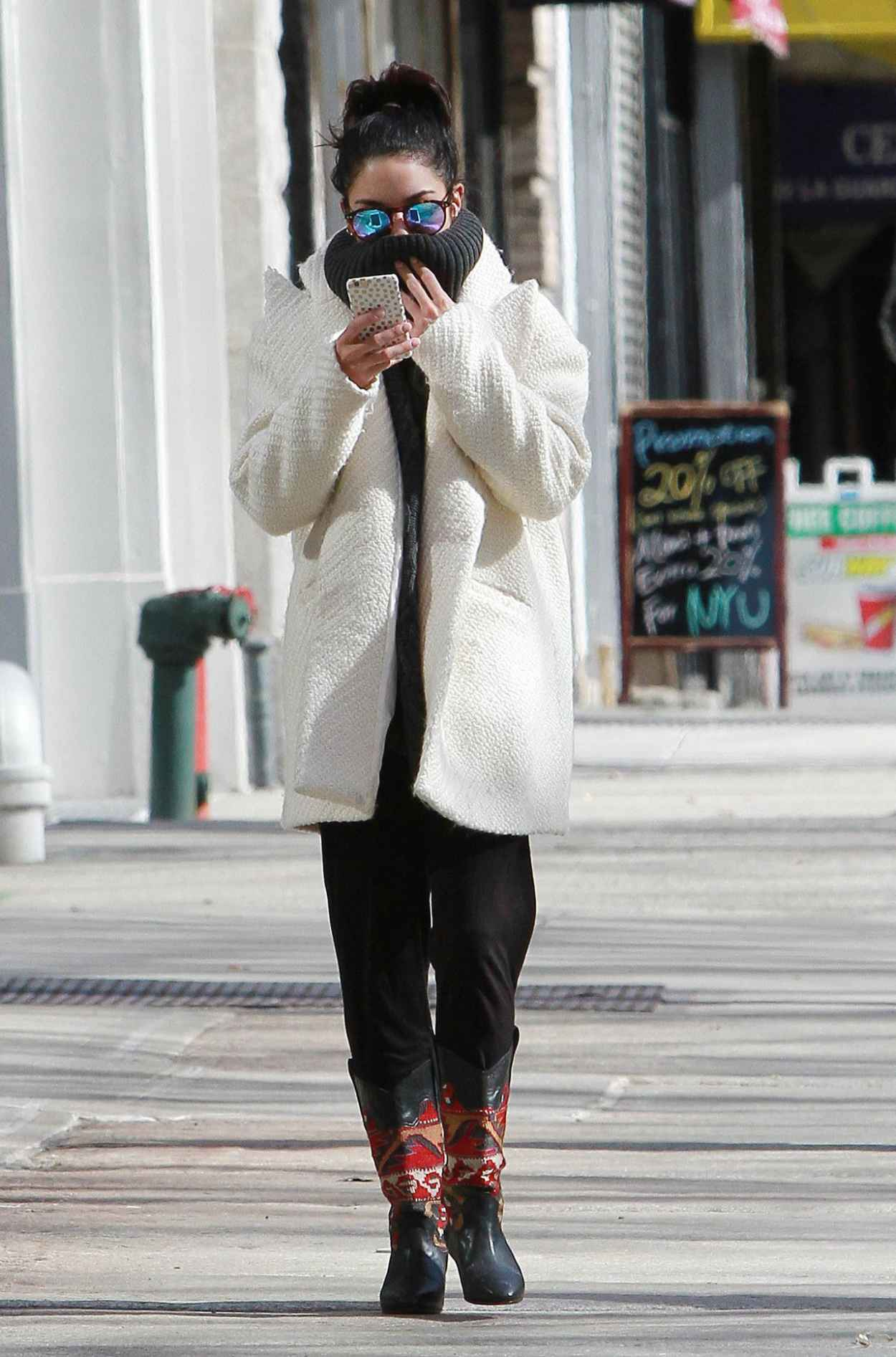 Vanessa Hudgens Street Style Out In Nyc March 2015
