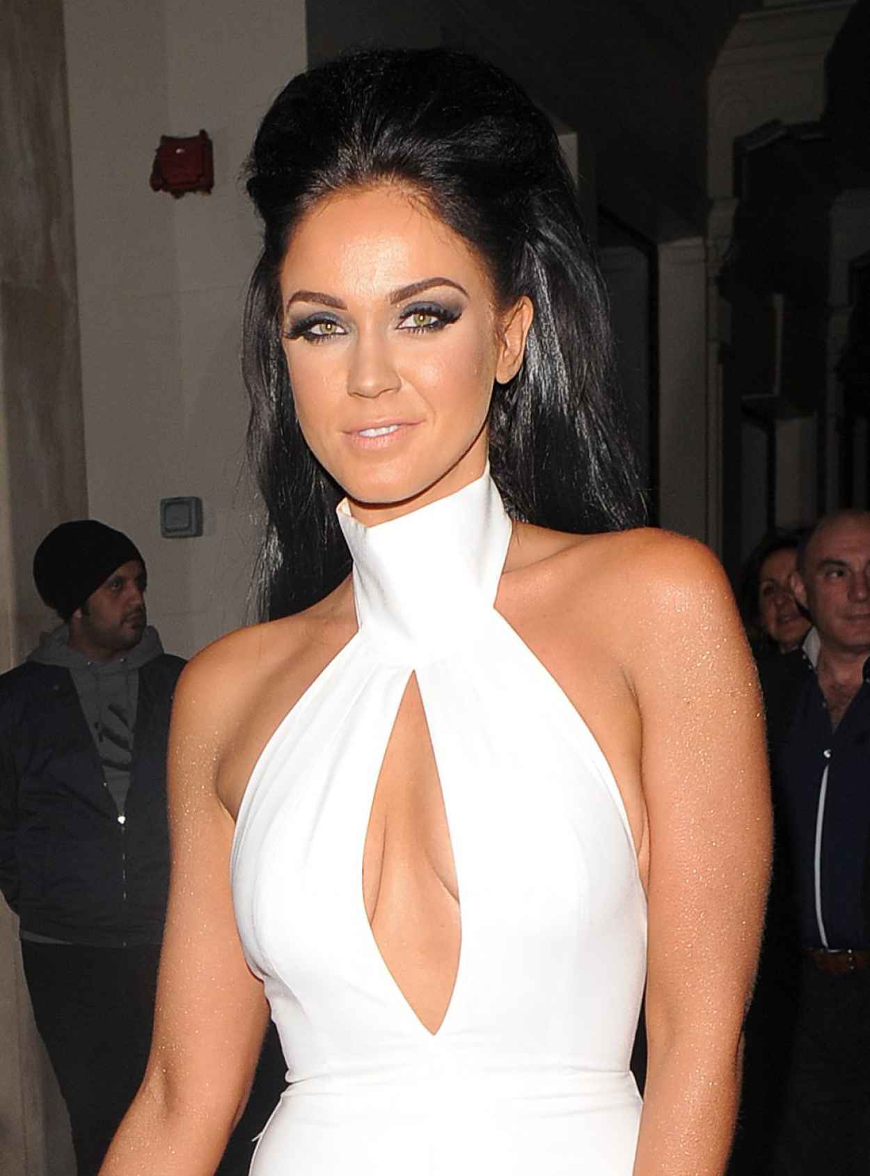 Vicky Pattison Night Out Style - Mayfair Hotel in London, February 2015-1