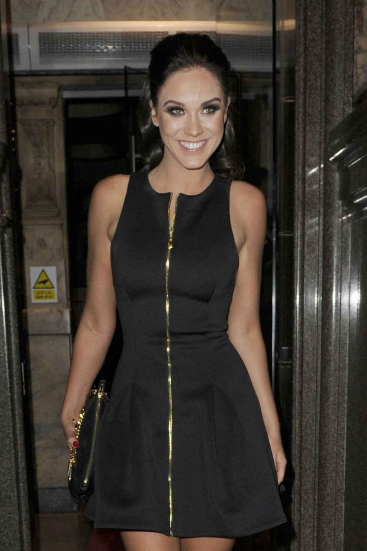 Vicky Pattison Style - at The Rosso Restaurant in Manchester, Dec. 2015-1