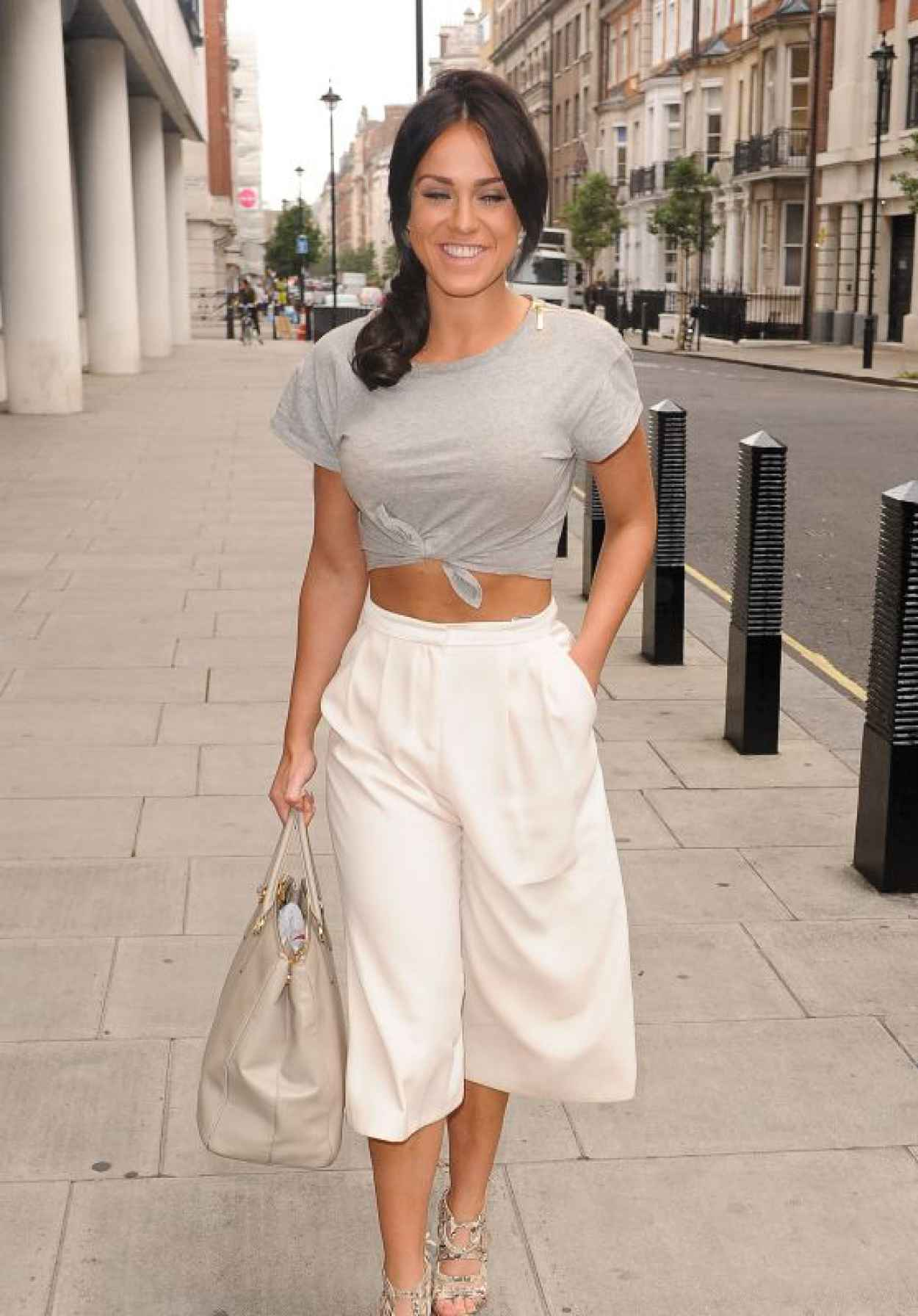 Vicky Pattison Summer Style - BBC Radio One Studios in London, July 2015-1
