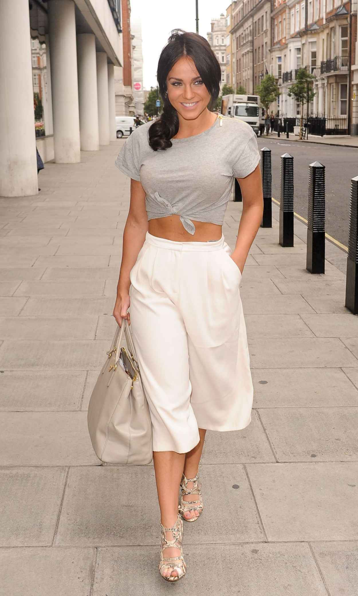 Vicky Pattison Summer Style - BBC Radio One Studios in London, July 2015-4