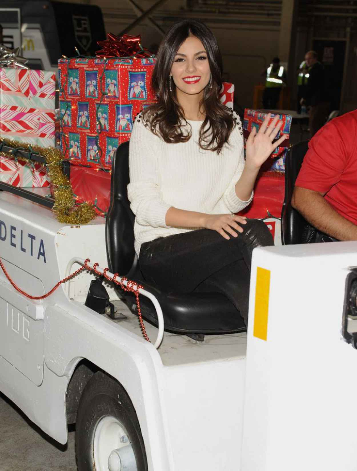 Victoria Justice - Delta Airlines Holiday in the Hangar in Los Angeles - December 2015-1