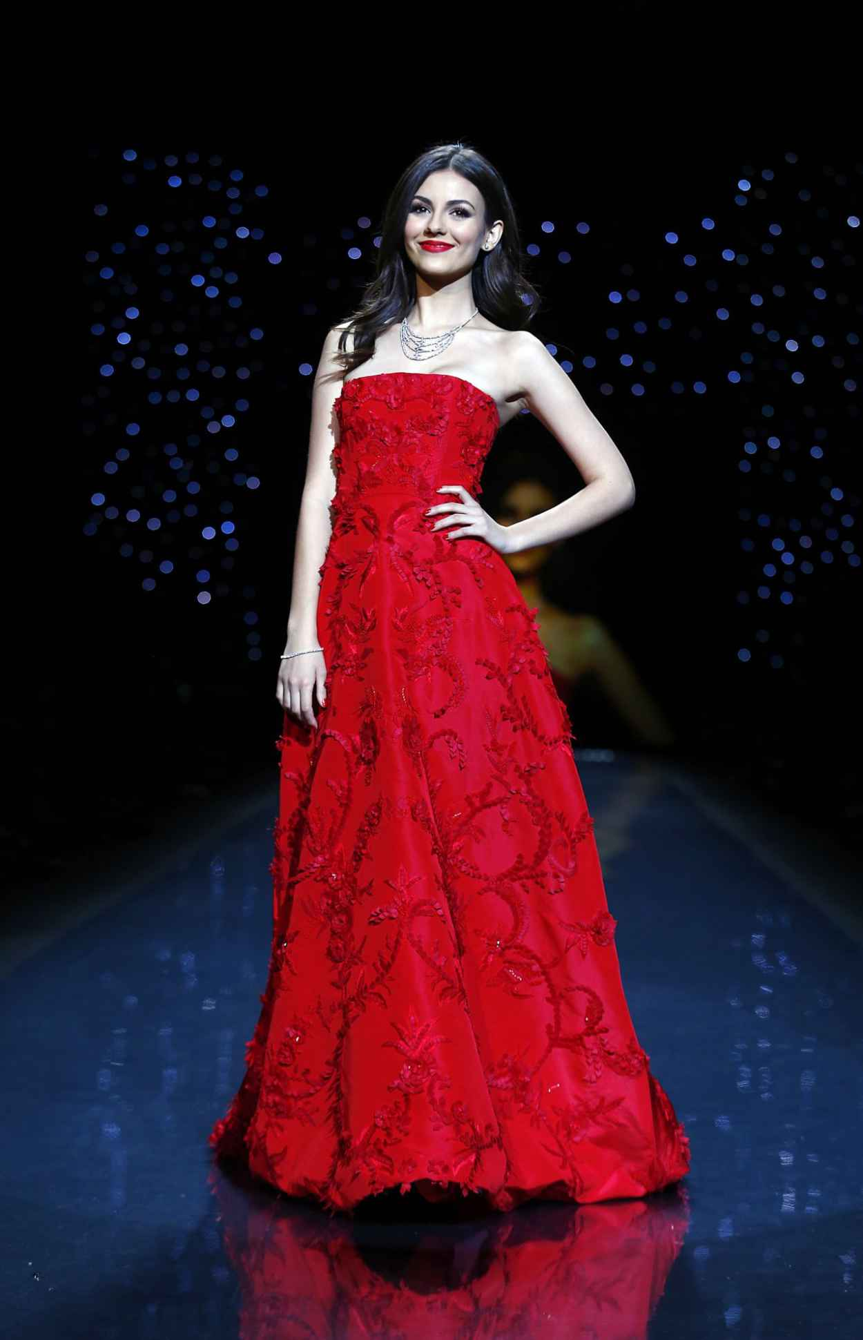 Victoria Justice - Red Dress Collection Fashion Show in New York - February 2015-1