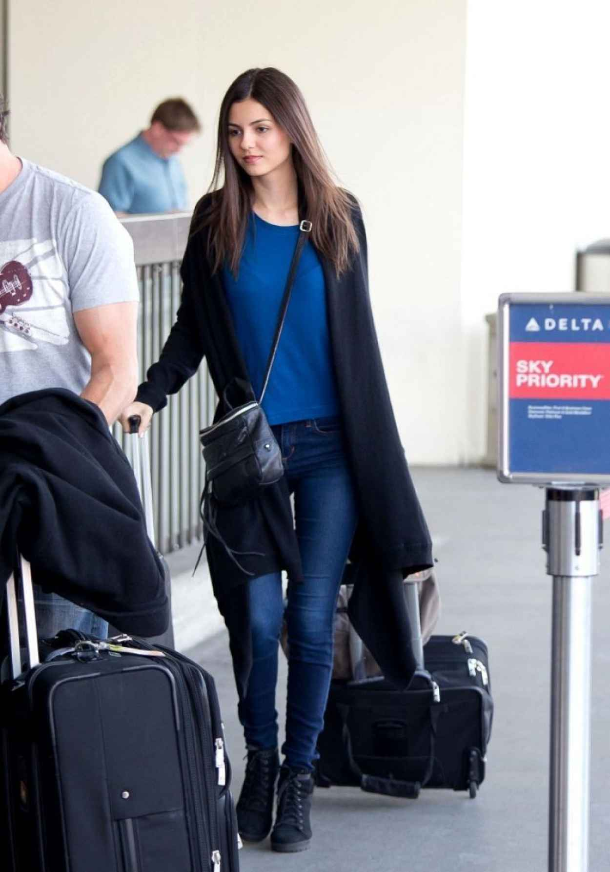 Victoria Justice Street Style - LAX Airport, February 2015-1