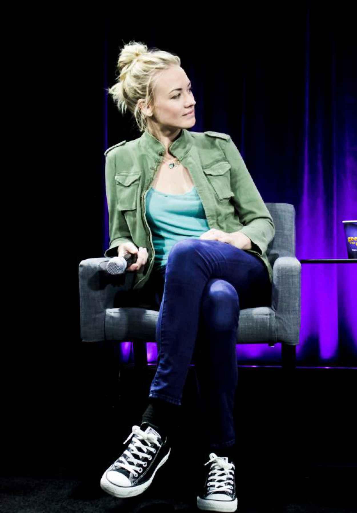 Yvonne Strahovski - Nerd HQ 2015 Badass Women Panel at Comic Con in San Diego-1