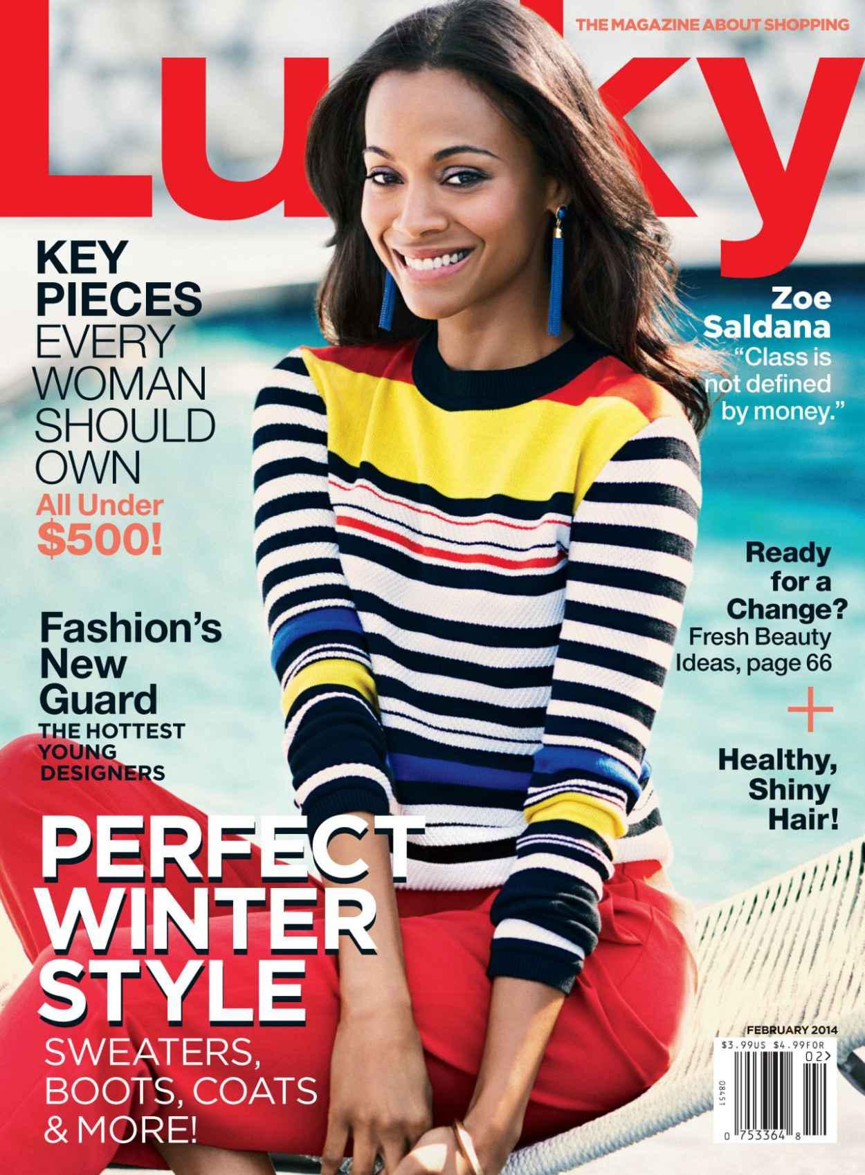 Zoe Saldana - LUCKY Magazine - February 2015 Issue-1