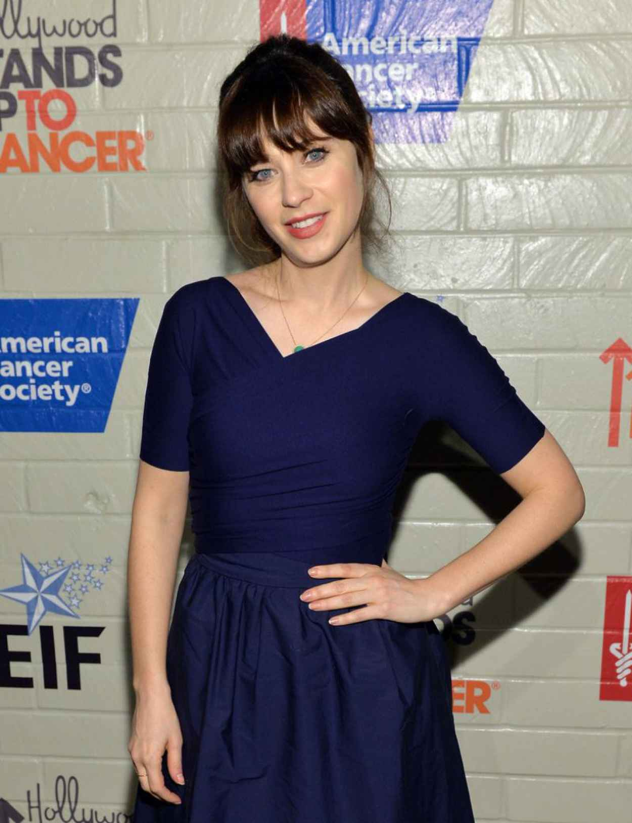 Zooey Deschanel - 2015 Hollywood Stands Up To Cancer Event-1