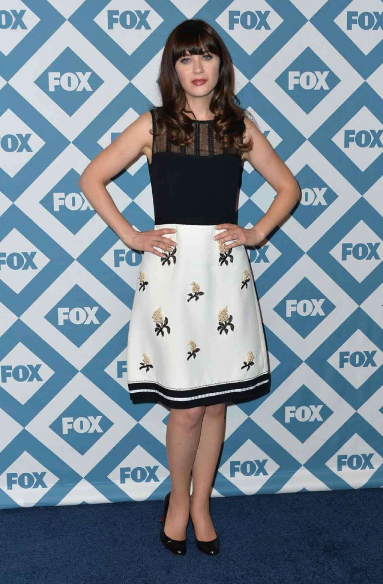 Zooey Deschanel Attends 2015 Fox All-Star Party in Pasadena-1