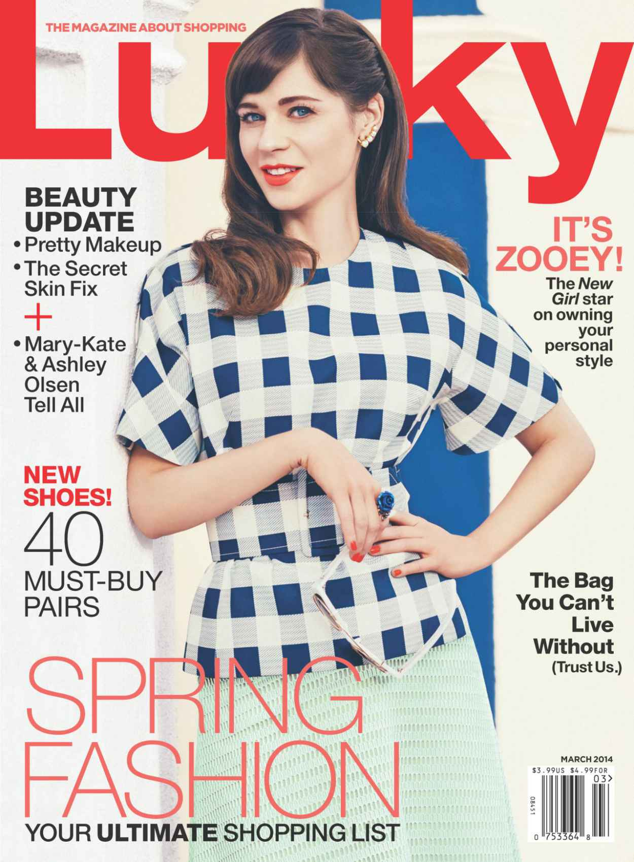Zooey Deschanel - LUCKY Magazine - March 2015 Cover-1
