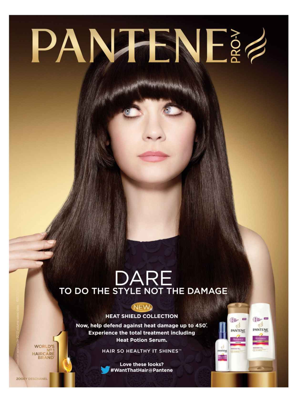 An advertisement for pante prop v shampoo